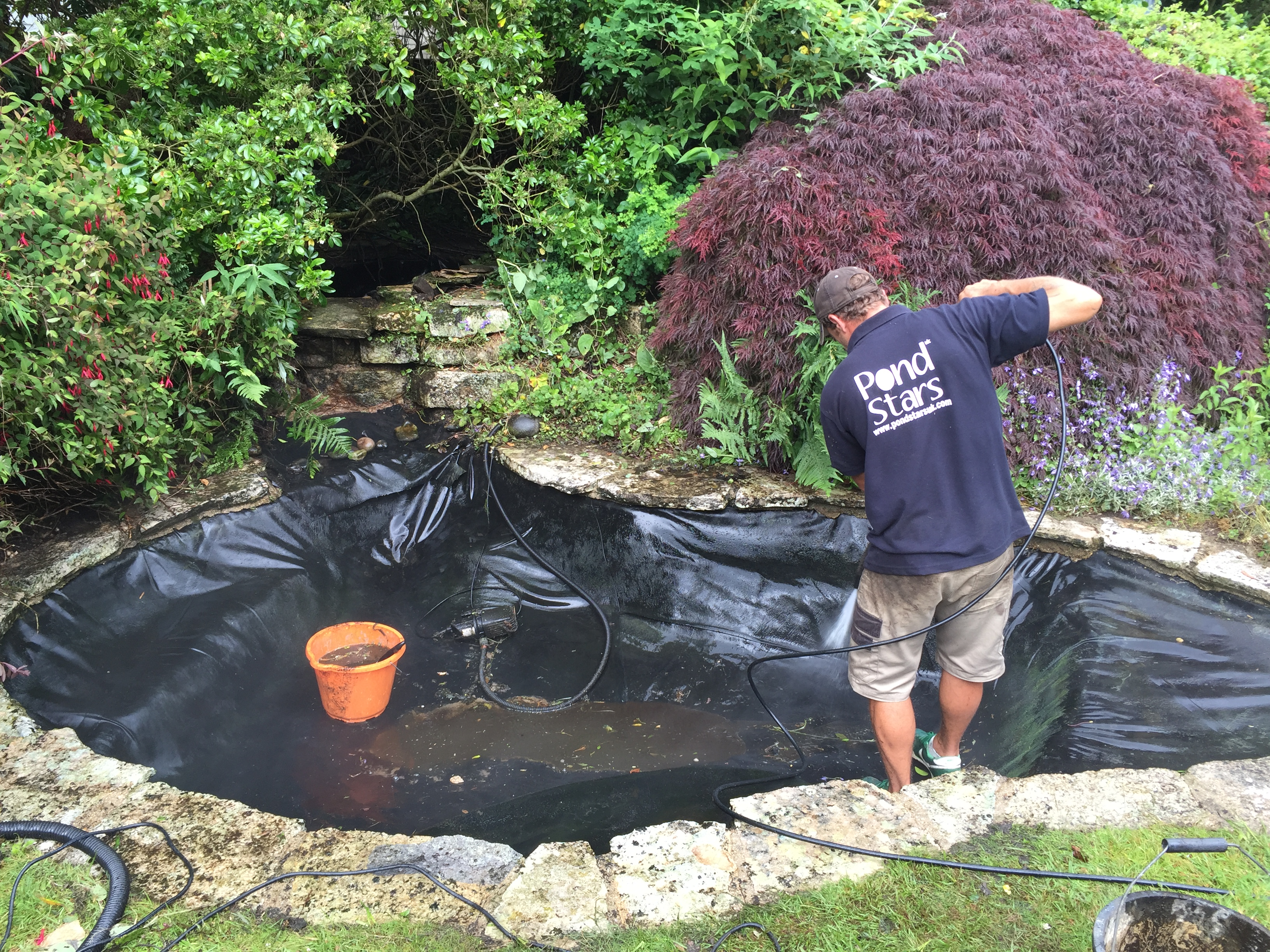 Pond cleaning dorsets best pond cleaning service from for Garden pond cleaning