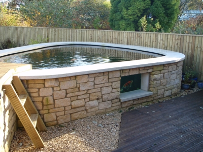 raised koi pond design ideas