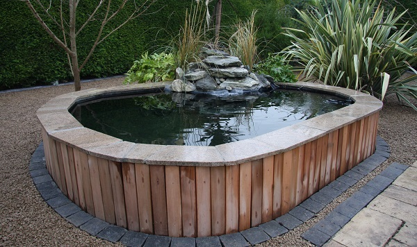 Pond design ideas raised koi ponds pond stars uk dorset for Koi pond depth