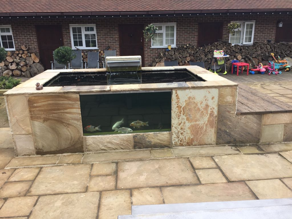 raised koi pond - Pond Stars UK
